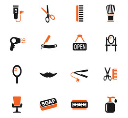 barbershop icon set
