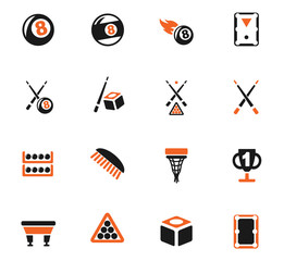 billiards icon set