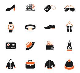 clothes shop icon set