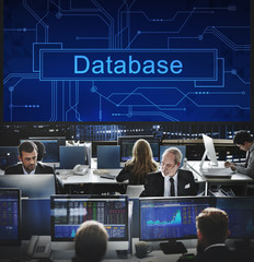 Database System Server Network Information Data Concept