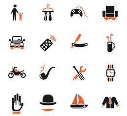 father day icon set