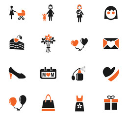 mohter day icon set