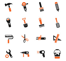 work tools icon set