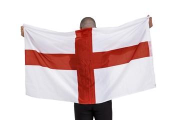 Athlete with england national flag