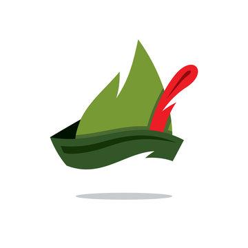 Vector Robin Hood Hat Cartoon Illustration.