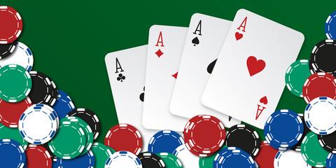 Poker - carré d'as