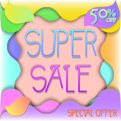 Super Sale. Paper Cut Design