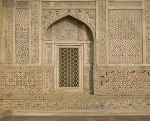 Detail of the tomb of Itmad ud Daulah (Itimad-ud-Daulah), Agra, Uttar Pradesh State, India