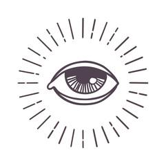 Eye sun vector symbol.