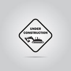 Vector icon under construction,