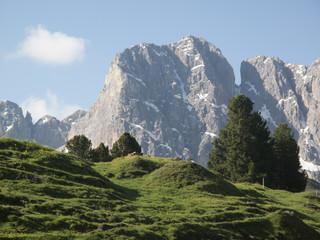 Low angle view of Dolomites