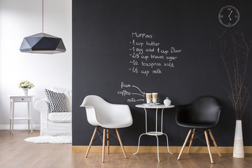 Cosy coffee area in flat Wall mural