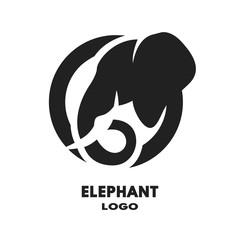 Silhouette of the elephant logo.