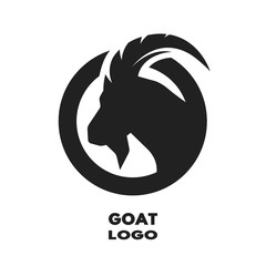 Silhouette of the goat, monochrome logo.