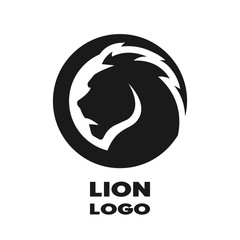Silhouette of the lion, monochrome logo.