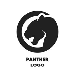 Silhouette of the panther logo.