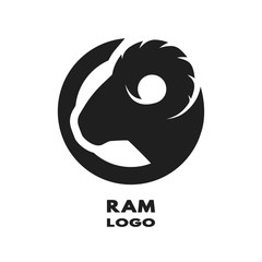 Silhouette of the ram, monochrome logo.