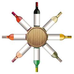 Bouteilles Vins Bordeaux - Tonneau