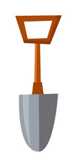 Shovel vector illustration.