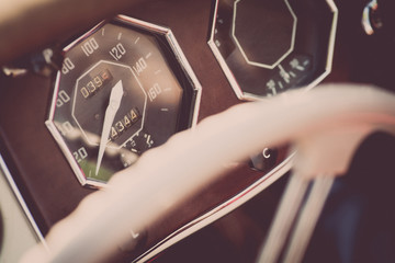 Retro car dashboard