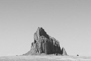 Ship Rock against clear sky