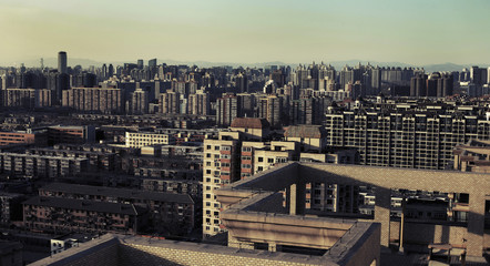 View of cityscape against sky, Beijing, China
