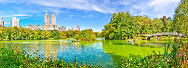View of Central Park in autumn in New York City.