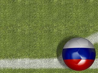 Russia Ball in a Soccer Field