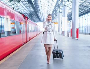 Woman at station