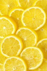 slices of fresh lemon