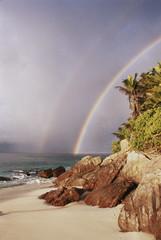 Seychelles, Fregate Island, View of Anse Victorin