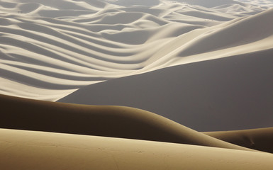 Abstract of desert shapes and contrasts