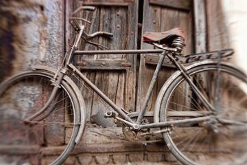 Bicycle in doorway, Jodhpur, Rajasthan, India