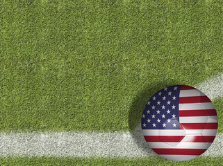 USA Ball in a Soccer Field