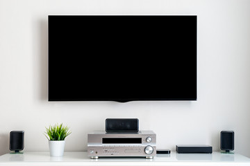 Home multimedia center - black tv display