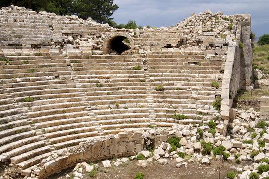 Amphitheatre at the Lycian site of Patara, near Kalkan, Antalya Province, Anatolia, Turkey Minor