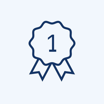 Vector first place icon