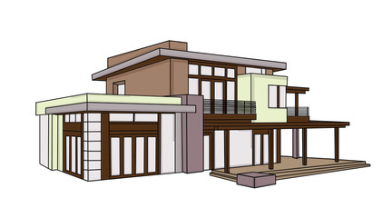 new modern house vector design on a white background