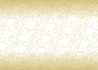 アラベスク模様 背景 金 グラデーション