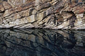 Wedge reflection, Horseshoe Lake, Jasper National Park, UNESCO World Heritage Site, Alberta, Canada, North America