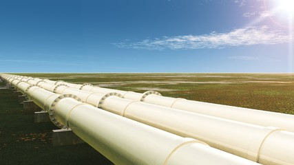 Pipelines in Sommerlandschaft