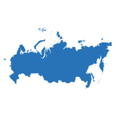 High detailed vector map - Russia