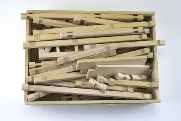 children's wooden box with the designer of the birch