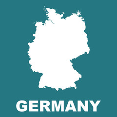 Germany map. Flat vector illustration