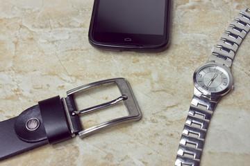 phone clock and girdle