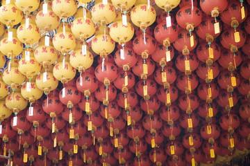 Lanterns, Thean Hou Buddhist Temple, Kuala Lumpur, Malaysia, Southeast Asia, Asia