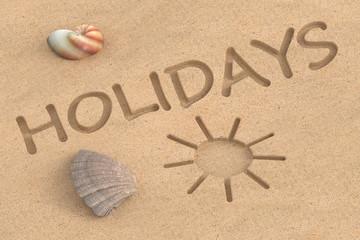 summer holidays, 3D rendering