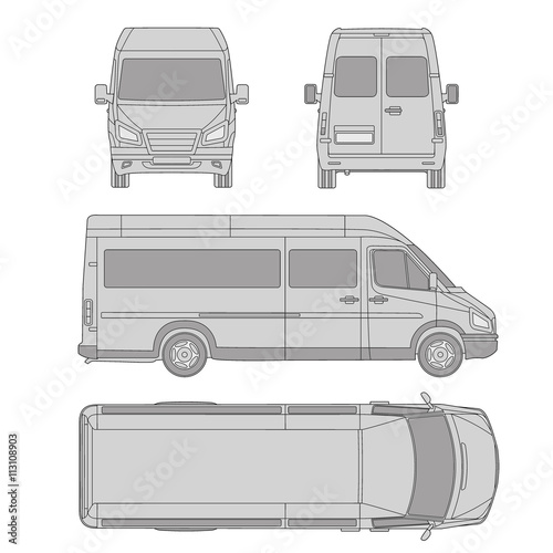Car template commercial vehicle delivery van blueprint car template commercial vehicle delivery van blueprint drawing proection all malvernweather Choice Image