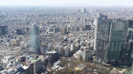 The view of tokyo from Tokyo Metropolitan Government