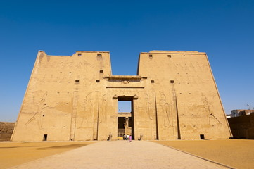Temple of Horus, Edfu, Upper Egypt, Egypt, North Africa, Africa